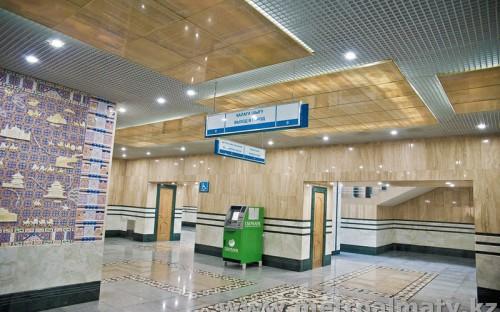 Вестибюль станции «Жибек жолы»