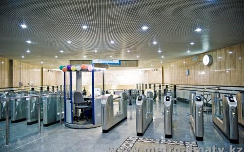 Входные турникеты станции