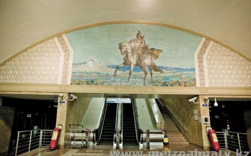 Изображение Райымбек Батыра на станции